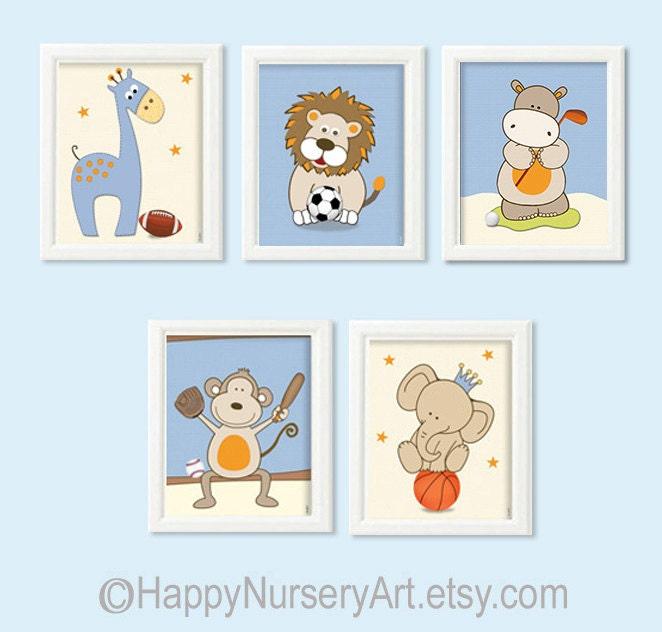 Sports Baby Boy Nursery Ideas: Baby Boys Nursery DecorNursery Sports Wall ArtBoys Nursery