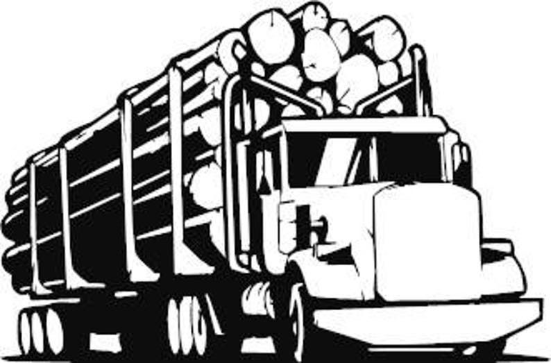 Logging Truck Small Vinyl Decal