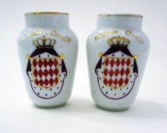 Vintage Pair Monte Carlo Limoge Small Vases, R.Bohnomme