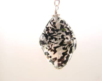 Sterling Silver Lariat with Murano Ruffle Bead