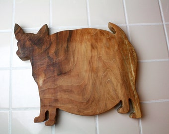 Fat Chihuahua Cutting Board - Oiled Hardwood
