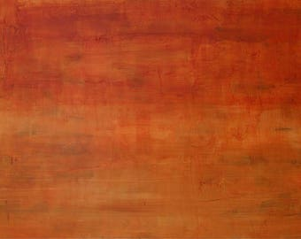 Large art painting, abstract painting, original abstract, cinnamon, sienna wall art, color field, expressionism art Victoria Kloch