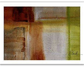SALE - Green Apples and Carmel Candy, original abstract painting by Victoria Kloch