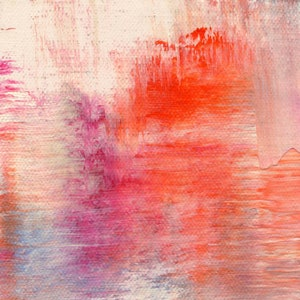 Large Art pink magenta and purple wall art Picking Raspberries Abstract painting Giclee print of oil painting color field Victoria Kloch