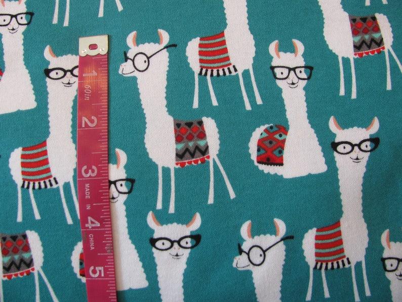 Llama Children/'s Pajama Pants Llama Leggings with Glasses Pyjamas for Boys and Girls Red and Green