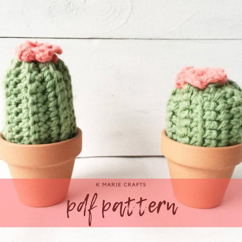 PDF PATTERN  Cactus Crochet Pattern Cactus Pincushion image 0