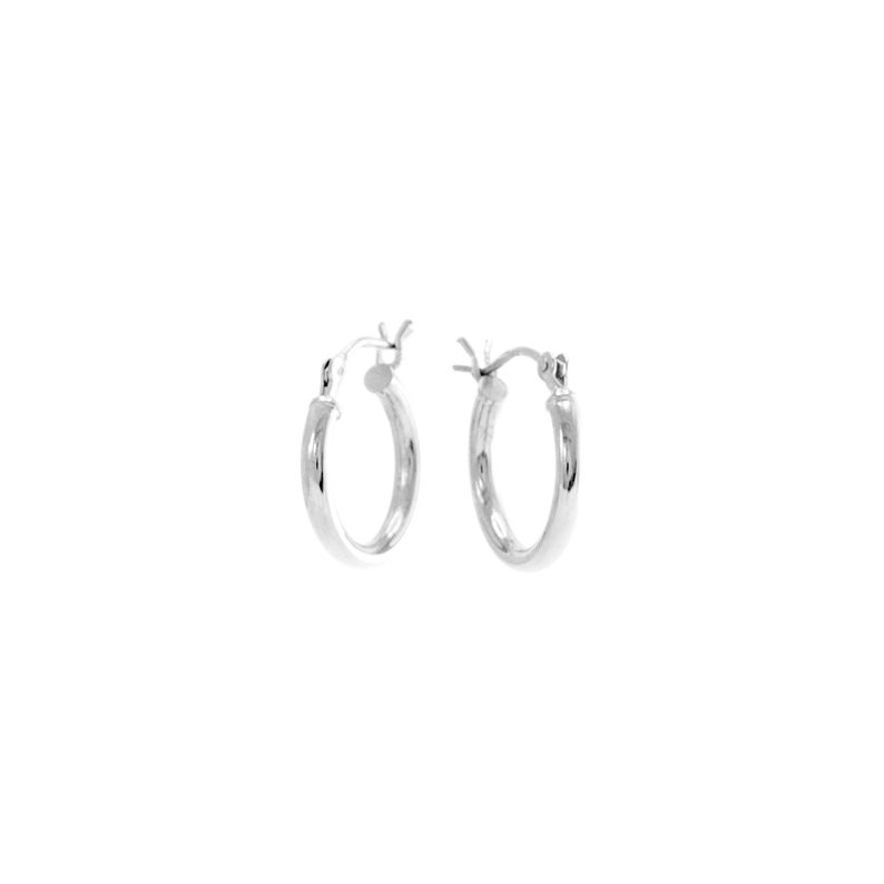 Petite Silver Hoops Small 15mm Silver Hoops with Charms Clip Down Hoops Rhodium Plated Non Tarnishing Silver Hoop Earrings Remove Charms