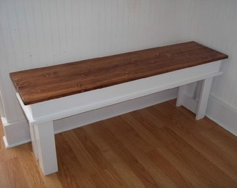 Farmhouse Bench- Entryway Bench- Kitchen Bench- Mudroom Bench-  T V Stand  , Living Room Bench