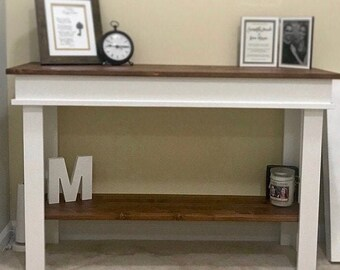 Farmhouse Console Table , Furniture , Country Side Table ,Country Cottage Entry Table , Foyer Table
