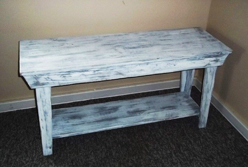 Wondrous Rustic Console Table Entryway Table Shabby Rustic Chic Furniture Foyer Table Sofa Table Bench Wood Table Bench Coffe Table Bralicious Painted Fabric Chair Ideas Braliciousco