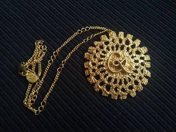 Vintage Christian Lacroix Monogram Necklace