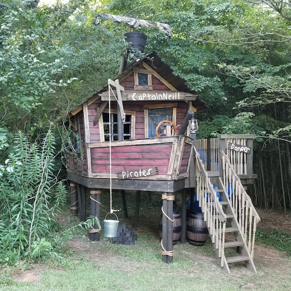 Kids Pirate Ship Playhouse | AMAZING Outdoor Playhouses For Kids