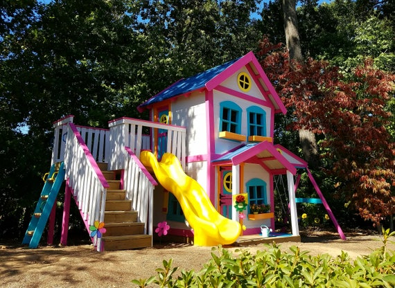 The Dollhouse Playhouse Playset | AMAZING Outdoor Playhouses For Kids