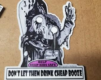 """Street Trash - 3""""  Safety Kid sticker"""