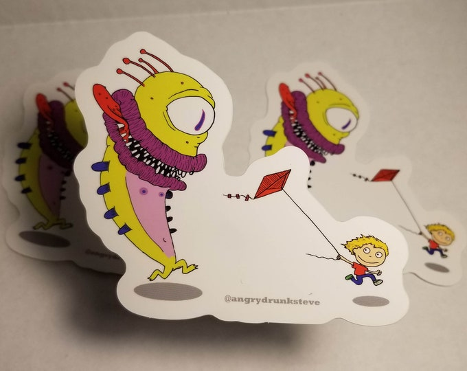 Featured listing image: Run!  Large Vinyl Sticker
