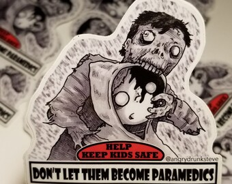 "Return of the Living Dead - 4""  Horror Safety Kid sticker"
