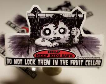 "Evil Dead 2- 3""  Horror Safety Kid sticker"
