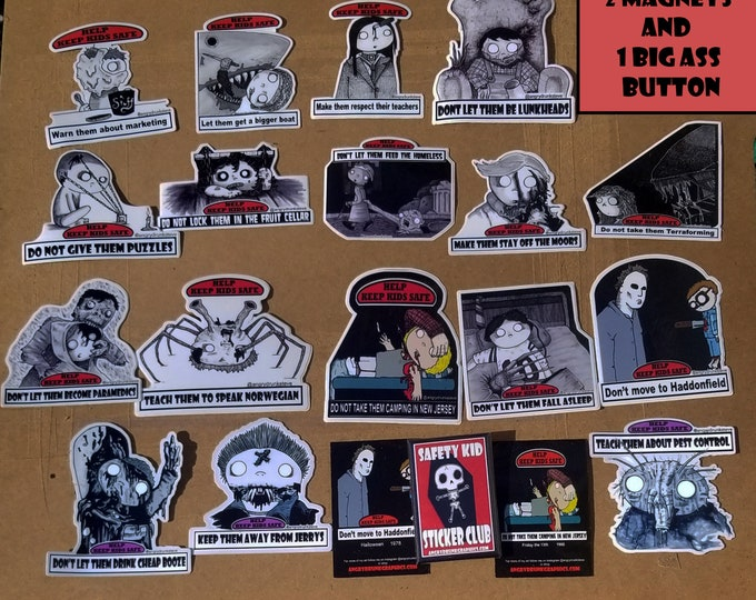 Featured listing image: HORROR STICKER PACK