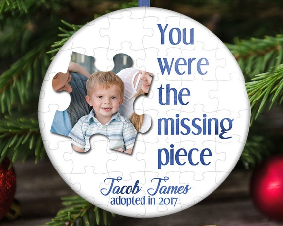 Adoption Christmas Ornament - Missing Puzzle Piece - Adoption Christmas Ornament Missing Puzzle Piece Etsy