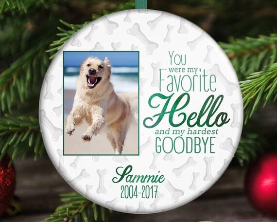 Pet Memorial Ornament In Loving Memory Dog Memorial Etsy