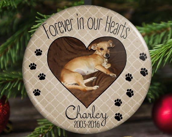 image 0 - Pet Memorial Christmas Ornament Forever In Our Hearts Etsy