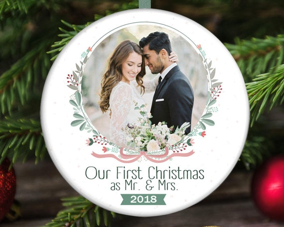 Our First Christmas Ornament - Newlywed Christmas Ornament