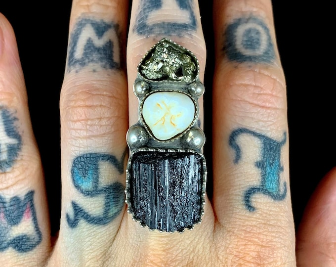 Molar & Mineral Totem Ring or Pendant