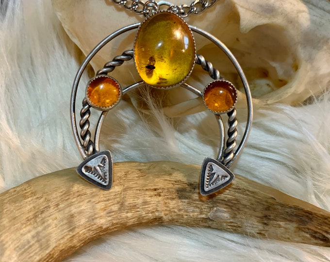 Fossilized Amber Naja Necklace