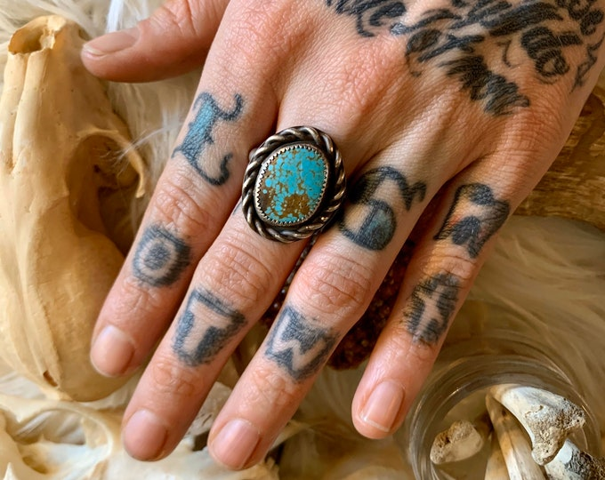 Number 8 Turquoise Ring, Size 11