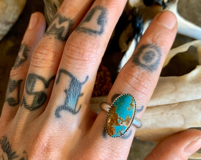 Number 8 Turquoise Ring, Size 8.5