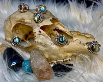 Labradorite Rings