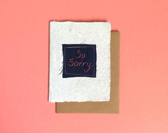 So Sorry Greeting Card