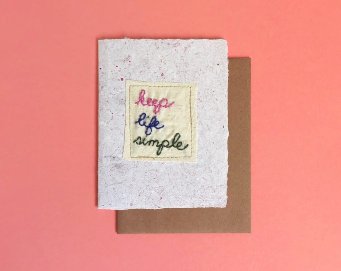 Keep Life Simple Card