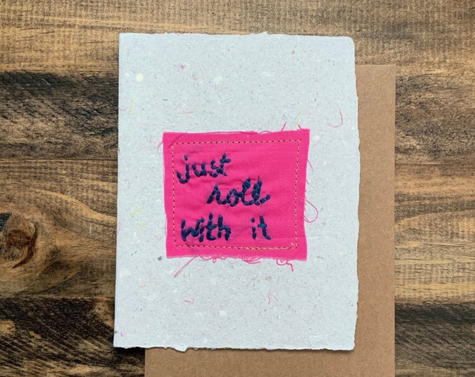 Just roll with it; Handmade Recycled Paper and Fabric