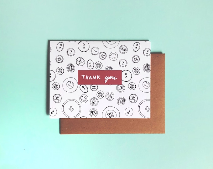 Thank You Card; Buttons