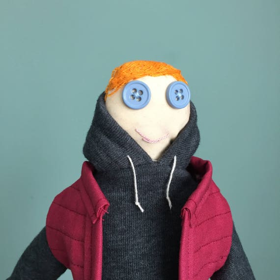 Representation Matters Plush Toy; Redhead Boy Cloth Doll with Hoodie