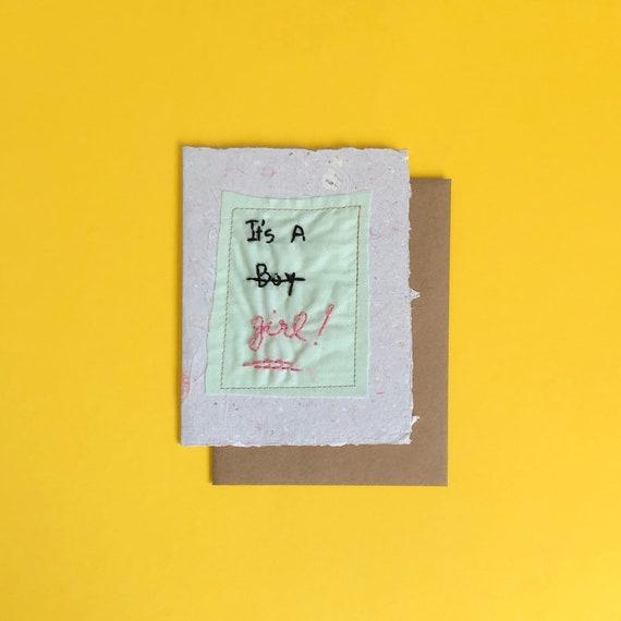 It's a Girl MTF Greeting Card