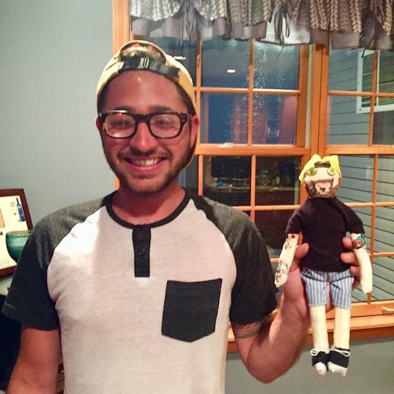 Look Alike; Custom Cloth Doll Caricature; Representation Matters; Boy Doll with Tattoos; Custom Order