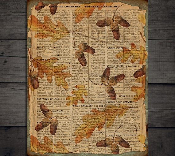 DIGITAL Vintage Fall Junk Journal Ephemera Digital Paper Download VBM1899