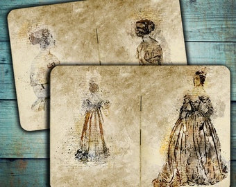 DIGITAL Vintage Junk Journal Victoran Fashion - Digital Collage Sheet Download