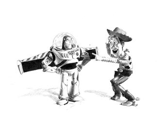 TOY STORY pencil drawing