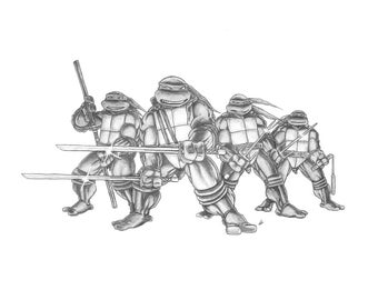 Teenage Mutant Ninja Turtles PENCIL DRAWING