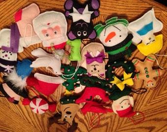 Felt  Christmas Ornament set of 20 Group 5