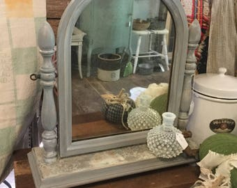 chalk painted mirror etsy