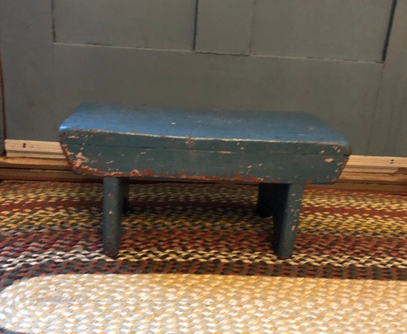Enjoyable Farmhouse Bench Bench Old Bench Rustic Bench Chippy Paint Bench Mortise And Tenon Bench Wood Bench Primitive Bench Machost Co Dining Chair Design Ideas Machostcouk