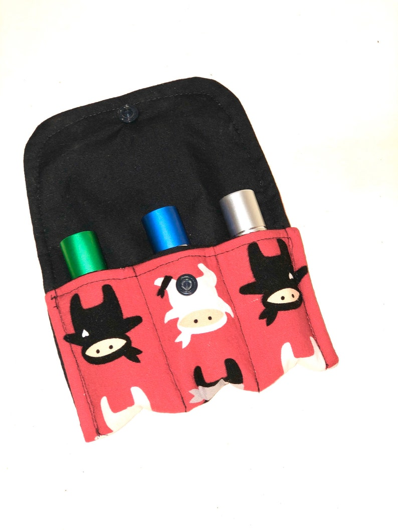 Easential oil Roller bottle case essential oil GIft essential oil BAg holds 3 roller bottles essential oil storage