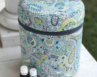 Diffuser bag, Essential oil bag, custom sewn order, holds 12 oils plus diffuser, Essential oil gift, mothers day  gift Essential oil case,