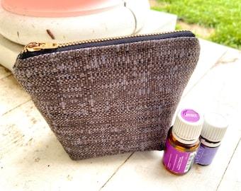 Essential oil bag, holds 6 bottles Mini flat essential oil Bag Essential oil gift Essential oil storage essential oil case travel
