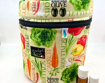 Diffuser bag, Essential oil bag, vegetables gardening Holds 12 oils plus diffuser, Essential oil gift, christmas gift Essential oil case,