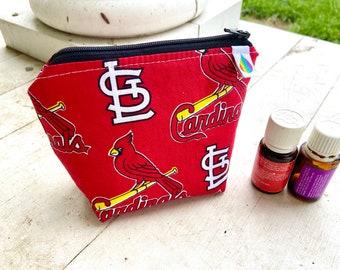 Essential oil bag, holds 6 bottles   Baseball Mini flat essential oil Bag Essential oil gift Essential oil storage essential oil case